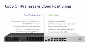 cisco on prem vs cloud